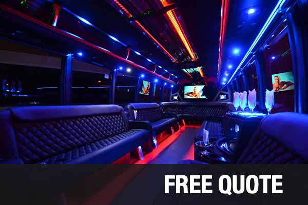 Prom & Homecoming party buses for rental West Palm Beach
